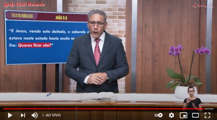 "Igreja Cristã Maranata - ""Jesus quer mudar sua história"" - 11/02/2021 Quinta"