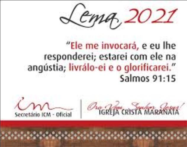 Igreja Cristã Maranata – Igrejas do Brasil – 21/02/2021 Domingo