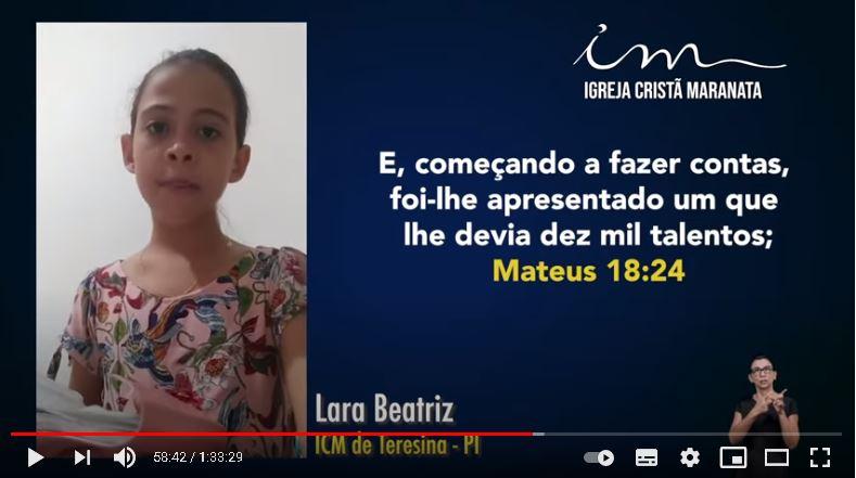 Igreja Cristã Maranata – Escola Bíblica Dominical – 09/05/2021