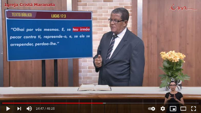 """Igreja Cristã Maranata - """"A mágoa e o perdão"""" - 13/05/2021 Quinta"""