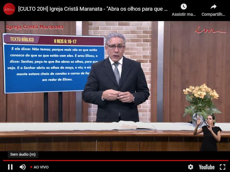 """Igreja Cristã Maranata - """"Culto de Glorificação"""" - 03/06/2021 Quinta"""