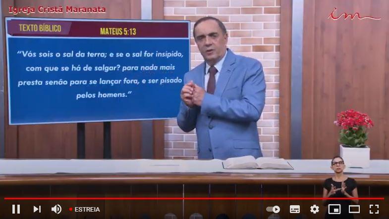 "Igreja Cristã Maranata - ""Vós sois o sal da terra"" - 22/06/2021 Terça"