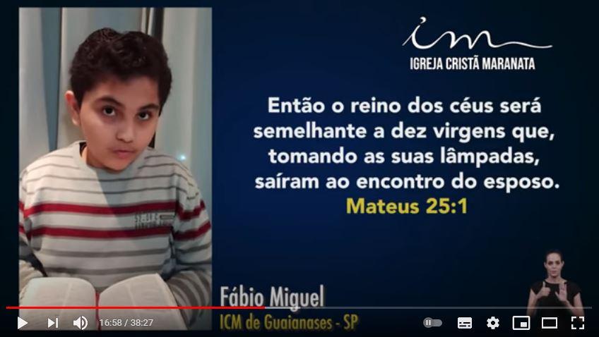 Igreja Cristã Maranata – Igrejas do Brasil – 06/06/2021 Domingo