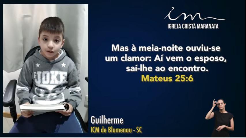 Igreja Cristã Maranata – Participações da Escola Bíblica Dominical – 13/06/2021