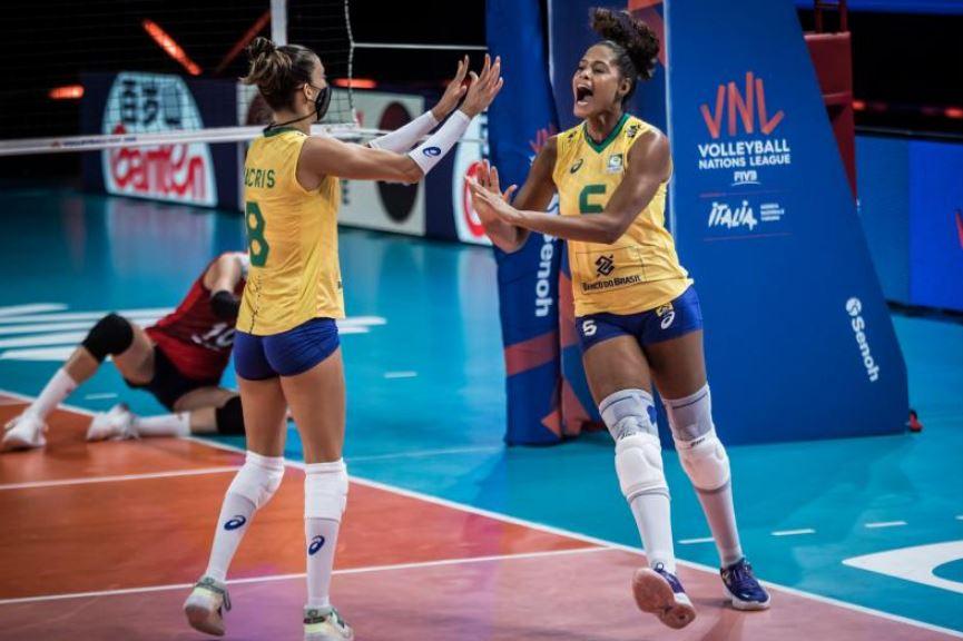 Com a vitória sobre a Coréia do Sul, Brasil chega á semifinal da Liga das Nações