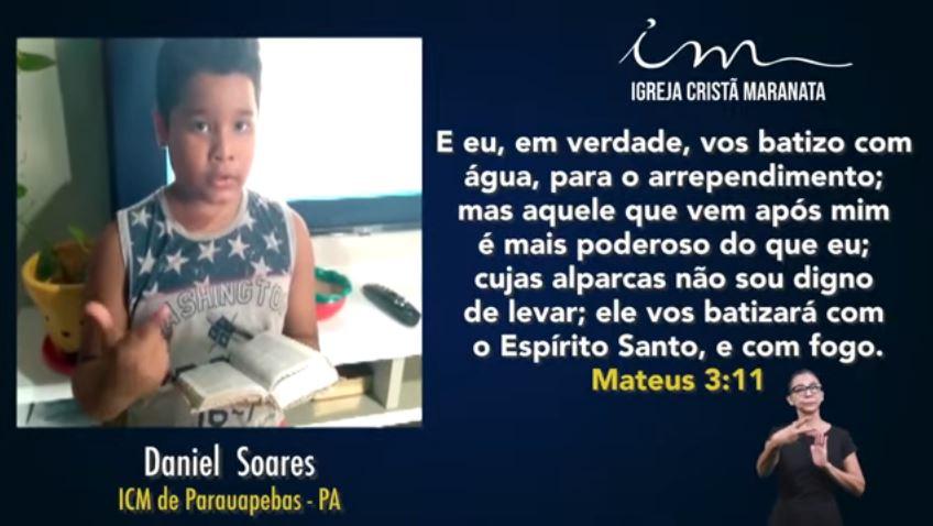 Igreja Cristã Maranata – Participações da Escola Bíblica Dominical – 20/06/2021