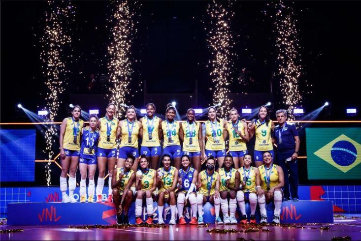 Seleção Brasileira fica com a medalha de prata
