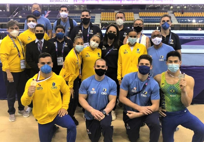 Brasil conquista mais quatro medalhas em Doha na Ginástica