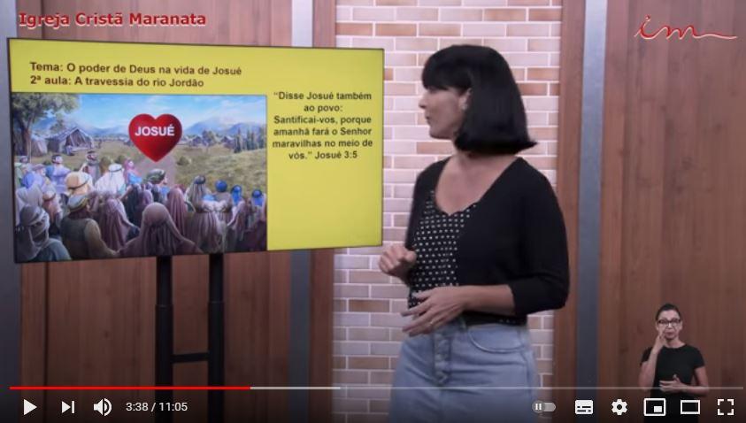 """Igreja Cristã Maranata – Crianças de 3 a 7 anos – """"A travessia do rio Jordão"""" – 08/07/2021 Quinta"""