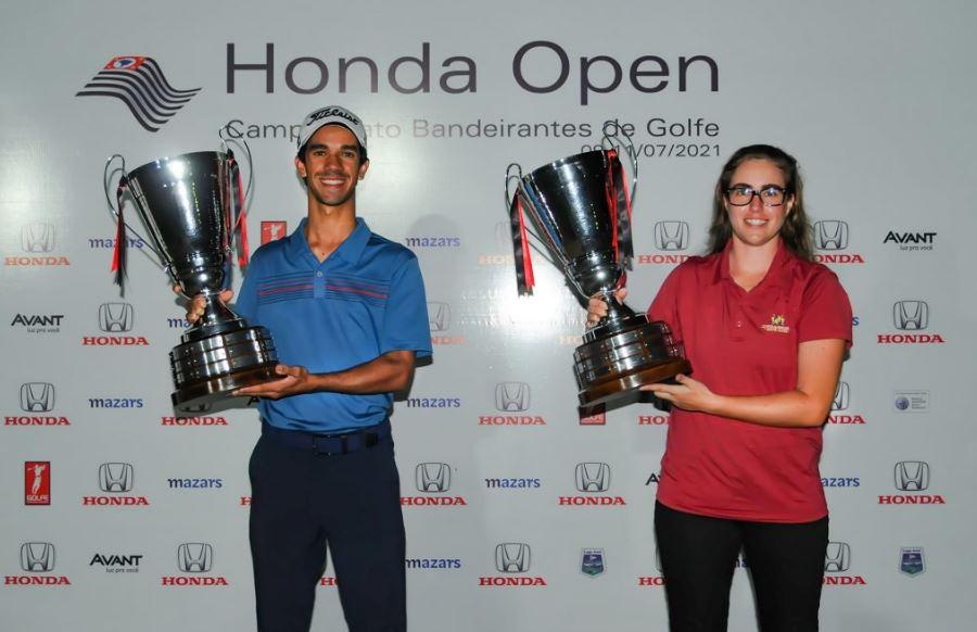 Manu Barcellos e Renato da Silva vencem o Campeonato Bandeirantes de Golfe