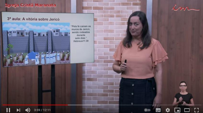 "Igreja Cristã Maranata – Intermediários de 07 a 11 anos – "" A vitória sobre Jericó"" – 15/07/2021 Quinta"
