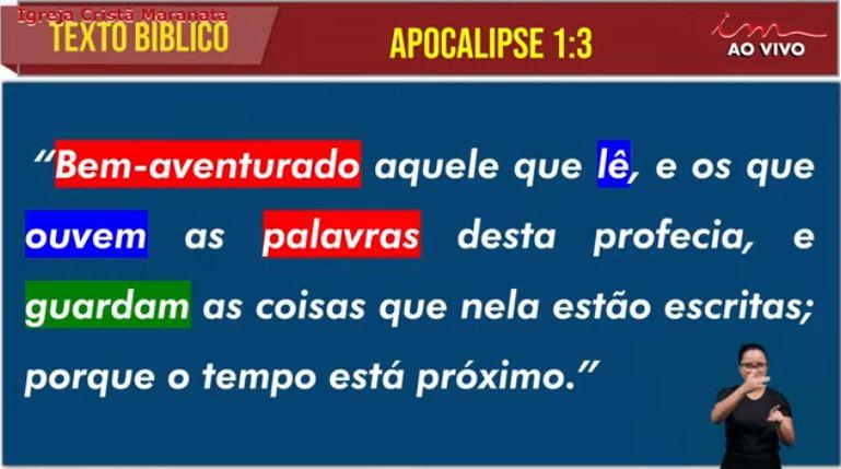 "Igreja Cristã Maranata – ""Na consciência do breve"" – 18/07/2021 Domingo"