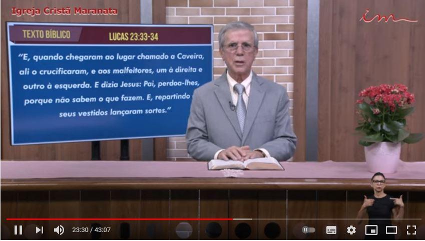 Igreja Cristã Maranata - Culto exibido na TV aberta no dia 25/05/21 Terça