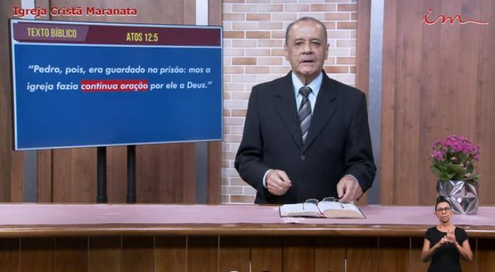 "Igreja Cristã Maranata - ""Perseverança na Oração"" - Quinta - 22/07/2021"