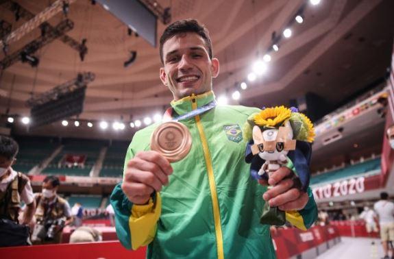 Daniel Cargnin é bronze e garante primeiro pódio ao judô brasileiro nos Jogos Olímpicos de Tóquio