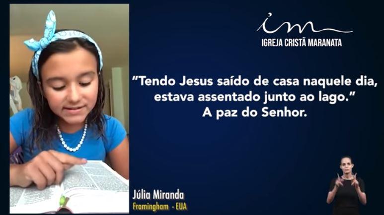 Igreja Cristã Maranata – Igrejas do Exterior – 25/07/2021 Domingo