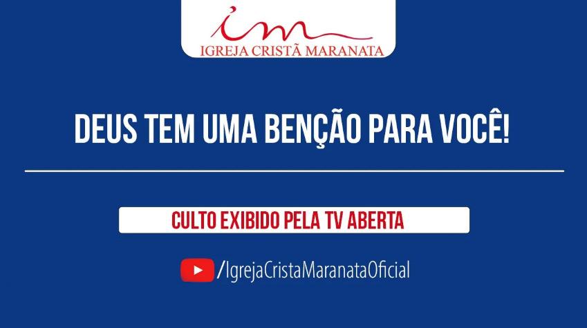 Igreja Cristã Maranata – Culto exibido na TV aberta – Pr Alexandre Brasil – 13/09/2021 Segunda