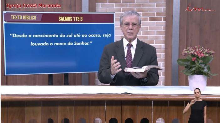 Igreja Cristã Maranata – Culto exibido na TV aberta – Pr Gilson Sousa – 09/08/2021 Segunda
