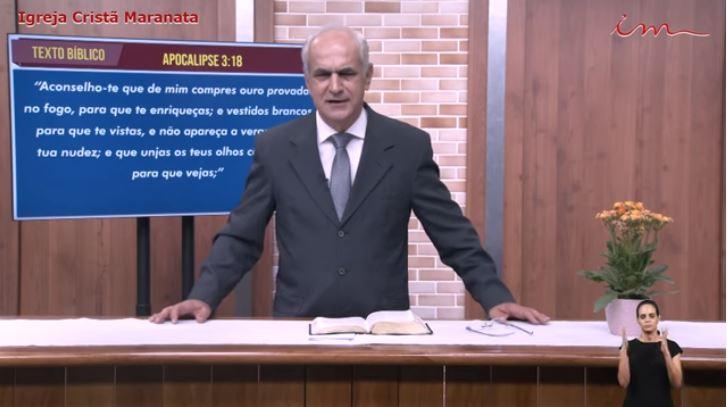Igreja Cristã Maranata – Culto exibido na TV aberta – Pr Diniz Cypreste – 03/08/2021 Terça