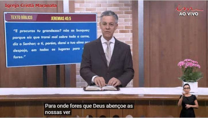 """Igreja Cristã Maranata - """"O nome escrito no livro"""" - 31/07/2021 Sábado"""